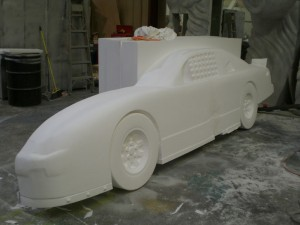 3D Foam Car for Display
