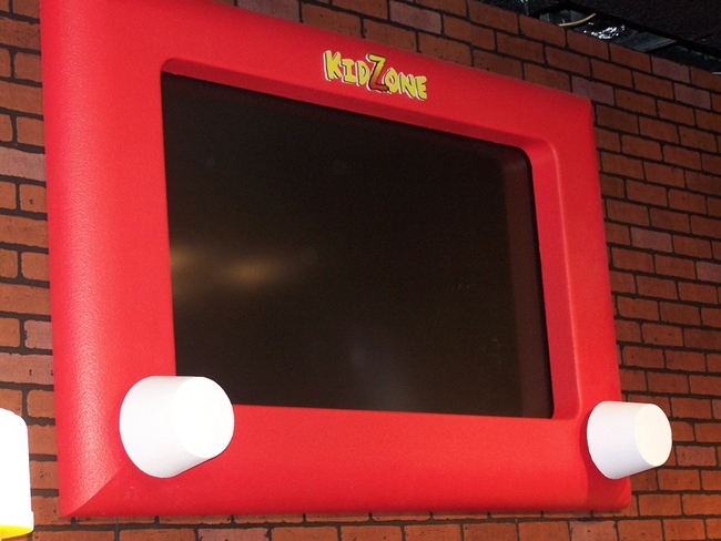 Giant etch a sketch tv frame