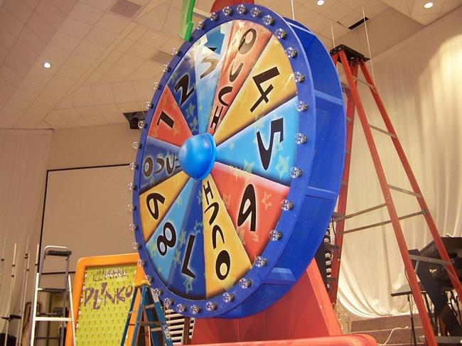 Custom game show spinwheel prop