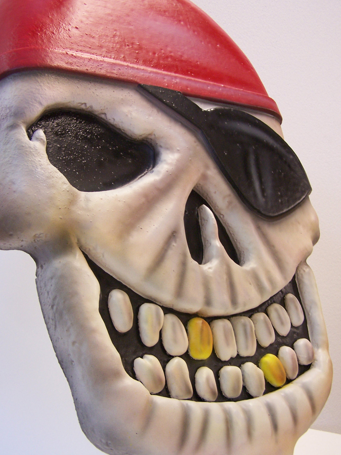pirate skull prop