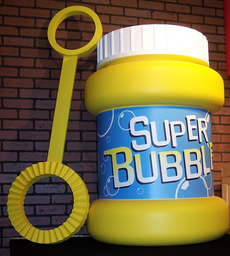giant bubble bottle prop