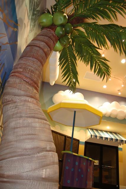 artificial palm tree prop