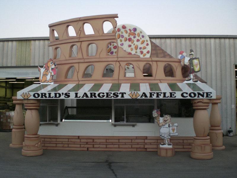 waffle cone prop