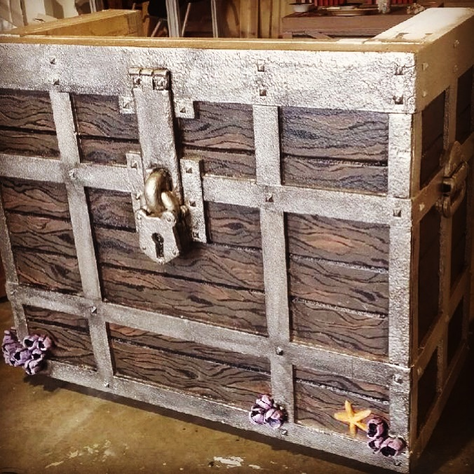 treasure chest desk prop