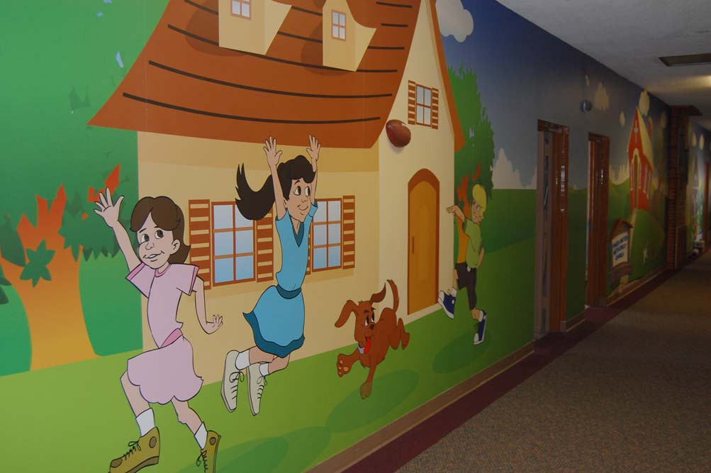 Children Playing Wall Mural