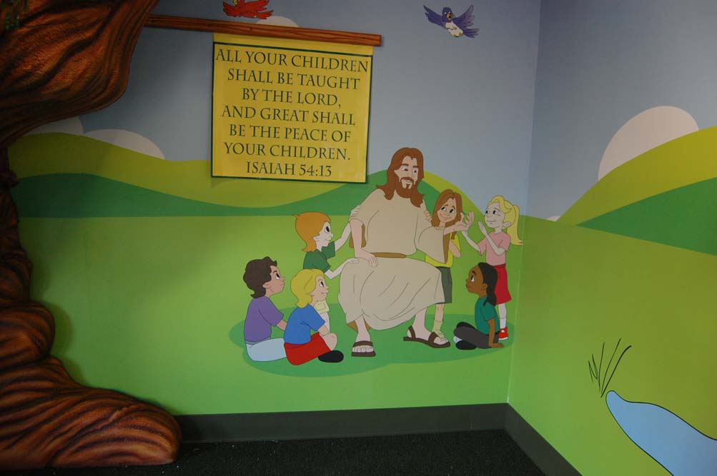 Jesus and Children wall Mural